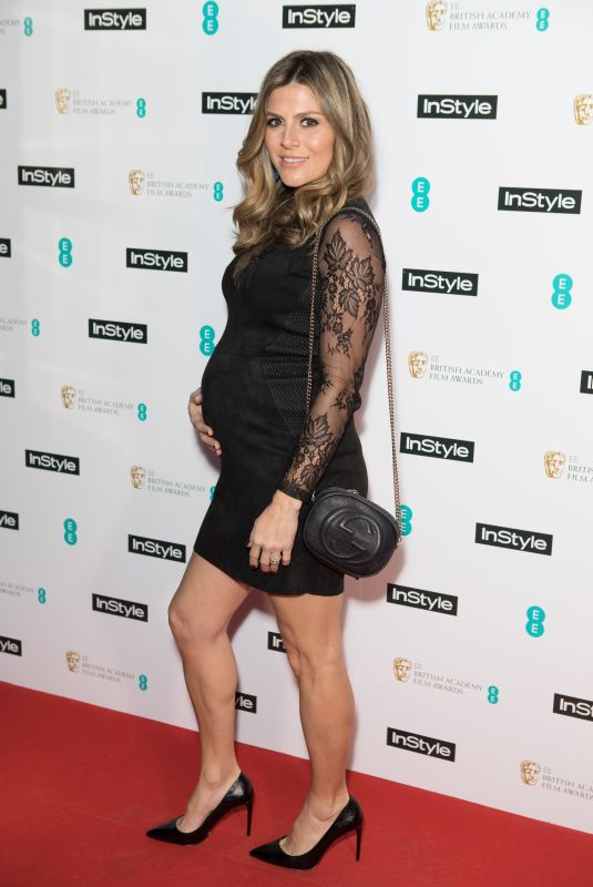 Pregnant ZOE HARDMAN at Instyle EE Rising Star Baftas Pre-party in London 02/06/2018