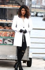 PRIYANKA CHOPRA and Russell Tovey on the Set of Quantico in New York 02/15/2018
