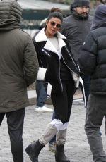 PRIYANKA CHOPRA on the Set of Quantico in Central Park in New York 02/02/2018