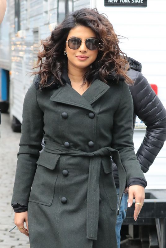 PRIYANKA CHOPRA on the Set of Quantico in New York 02/04/2018