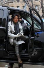 PRIYANKA CHOPRA on the Set of Quantico in New York 02/12/2018