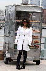 PRIYANKA CHOPRA on the Set of Quantico in New York 02/14/2018