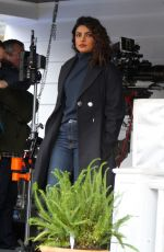 PRIYANKA CHOPRA on the Set of Quantico in New York 02/22/2018