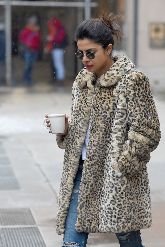 PRIYANKA CHOPRA Out for Coffee in New York 02/07/2018