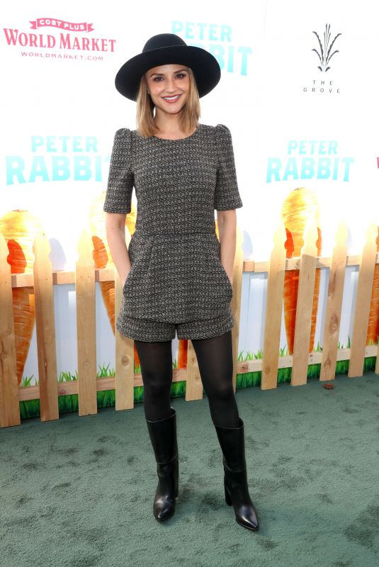 RACHAEL LEIGH COOK at Peter Rabbit Premiere in Los Angeles 02/03/2018