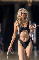 RACHEL MCCORD in Swimsuit at a Beach in Santa Monica 02/17/2018