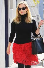 REESE WITHERSPOON in Black and Red Outfit for Valentine