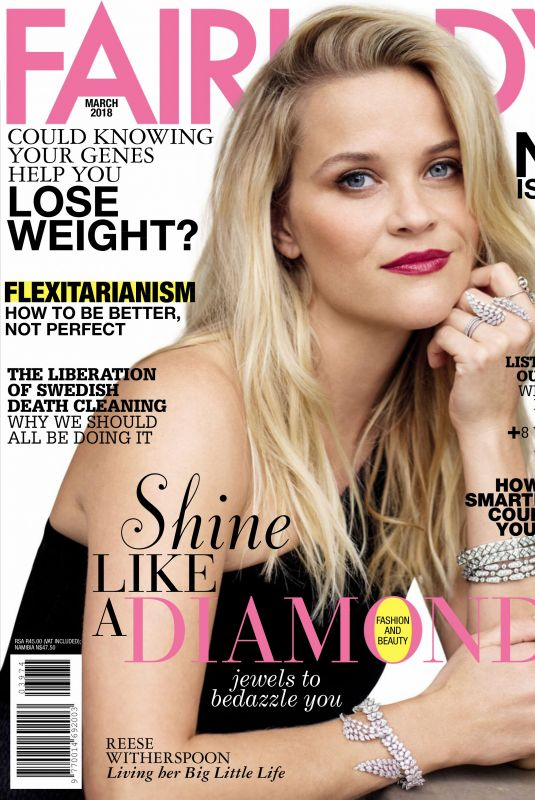 REESE WITHERSPOON in Fairlady Magazine, March 2018