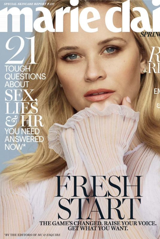 REESE WITHERSPOON in Marie Claire Magazine, March 2018