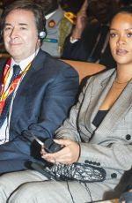 RIHANNA and Emmanuel Macron at Global Partnership for Education in Dakar 02/02/2018