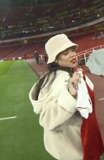 RIHANNA at Arsenal vs Everton Game at Emirates Stadium in London 02/03/2018