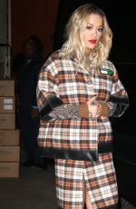 RITA ORA Heading to Kelly and Ryan Show in New York 02/01/2018