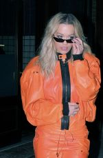 RITA ORA Heading to Late Night with Seth Meyers in New York 02/01/2018