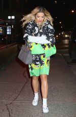 RITA ORA Out in New York 01/31/2018