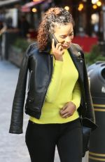 ROCHELLE HUME Arrives at Global Radio Studios in London 02/15/2018