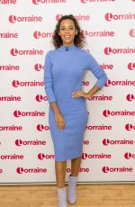 ROCHELLE HUMES at Lorraine Show in London 02/02/2018