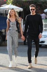ROMEE STRIJD and Laurens Van Leeuwen at Ivy Restaurant in West Hollywood 02/06/2018
