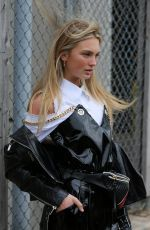 ROMEE STRIJD Leaves Ralph Lauren Show at New York Fashion Week 02/12/2018