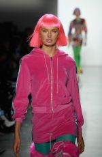 ROMEE STRIJD on the Runway of Jeremy Scott Fashion Show in New York 02/08/2018