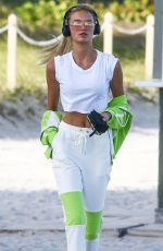 ROMEE STRIJD Out at a Beach in Miami 02/20/2018