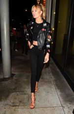 ROMEE STRIJD Out for Dinner at Catch LA in West Hollywood 02/06/2018