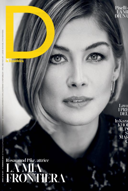 ROSAMUND PIKE in D La Repubblica, February 2018