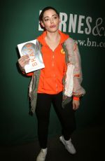ROSE MCGOWAN Promotes Her New Book Brave at Barnes and Noble in New York 01/31/2018