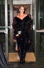 ROSIE HUNTINGTON-WHITELEY Arrives at Nobu in New York 02/10/2018
