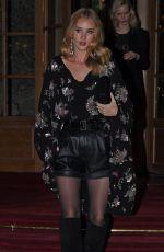 ROSIE HUNTINGTON-WHITELEY Arrives at YSL Fashion Show at Paris Fashion Week 02/27/2017