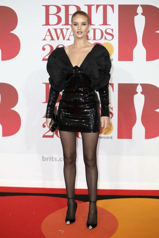 ROSIE HUNTINGTON-WHITELEY at Brit Awards 2018 in London 02/21/2018