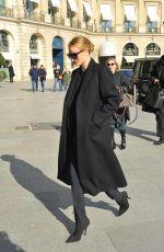 ROSIE HUNTINGTON-WHITELEY at Gare Du Nord in Paris 02/26/2018