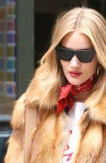 ROSIE HUNTINGTON-WHITELEY Leaves Her Hotel in New York 02/10/2018
