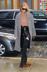 ROSIE HUNTINGTON-WHITELEY Leaves Her Hotel in New York 02/11/2018