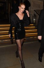 ROSIE HUNTINGTON-WHITELEY Leaves Universal Music Brit Awards Afterparty in London 02/21/2018