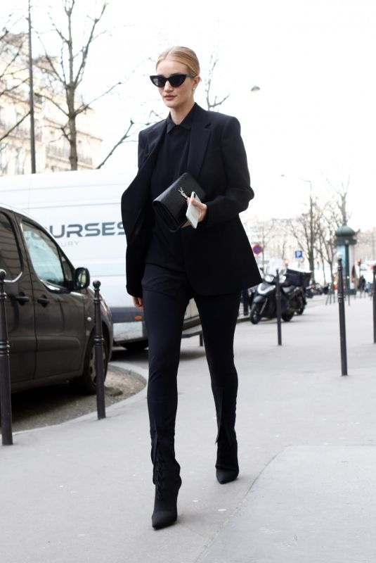 ROSIE HUNTINGTON-WHITELEY Out and About in Paris 02/26/2018