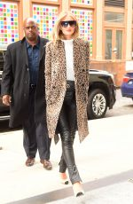 ROSIE HUNTINGTON-WHITELEY Out at New York Fashion Week 02/08/2018