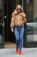 ROSIE HUNTINGTON-WHITELEY Out in New York 02/10/2018