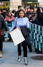 ROWAN BLANCHARD Arrives at Build Series in New York 02/12/2018