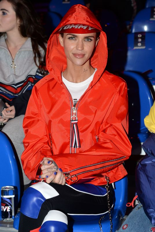 RUBY ROSE at Tommy Hilfiger Fashion Show in Milan 02/25/2018