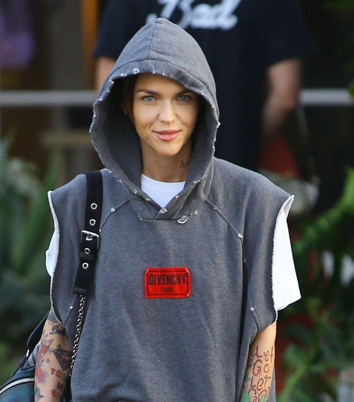 Ruby Rose In Hoodie Out In Los Angeles 02 06 2018 Hawtcelebs