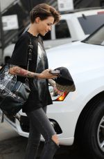 RUBY ROSE Leaves Nine Zero One Salon in West Hollywood 02/09/2018