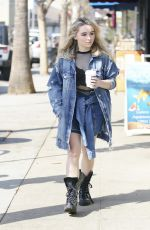 SABRINA CARPENTER Out for a Coffee in Los Angeles 02/07/2018