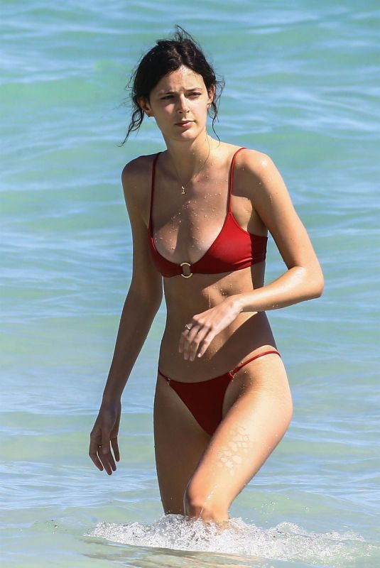 SADIE NEWMAN in Bikini on the Beach in Miami 02/15/2018