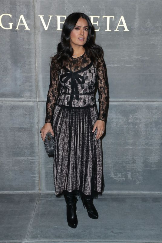 SALMA HAYEK at Bottega Veneta Show at New York Fashion Week 02/09/2018