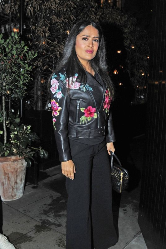 SALMA HAYEK at Chiltern Firehouse in London 02/05/2018