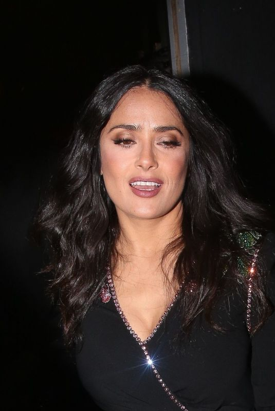 SALMA HAYEK at Vogue x Tiffany & Co Bafta Afterparty in London 02/18/2018