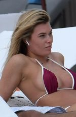 SAMANTHA HOOPES in Bikini on the Beach in Miami 02/20/2018