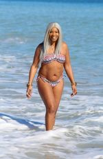 SANDI BOGLE in Bikini on the Beach in Benidorm 02/13/2018
