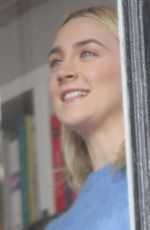 SAOIRSE RONAN Out Filming in New York 02/26/2018