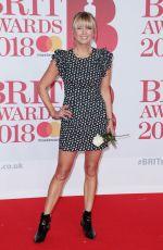 SARA COX at Brit Awards 2018 in London 02/21/2018